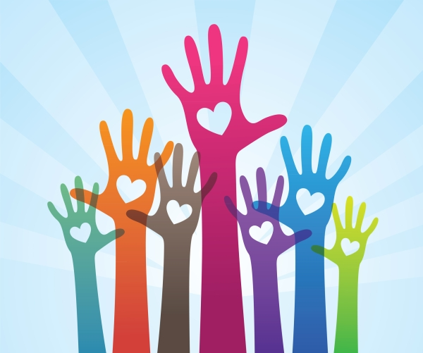 Cause Marketing hands in the air along with Socially responsible marketing plan